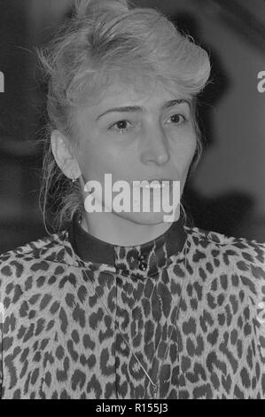 Moscow, USSR - December 21, 1990: Portrait of People's Deputy of the USSR Sazhi Zaindinovna Umalatova at 4th Congress of People's Deputies of the USSR - Stock Photo