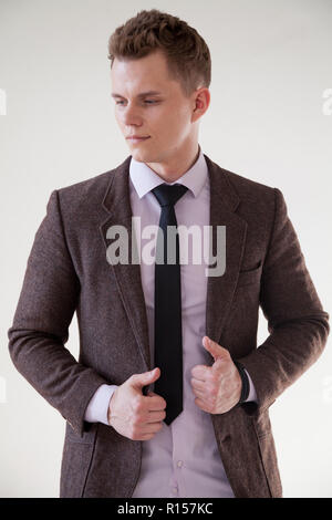 Office man in a business suit business portrait - Stock Photo