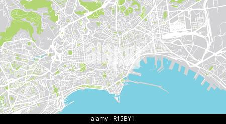Urban vector city map of Naples, Italy Stock Vector Art ...