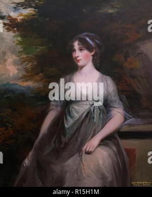 Lady Elizabeth Howard, 5th Duchess of Rutland,  John Hoppner, 1798, Lady Lever Art Gallery, Port Sunlight, Liverpool, England, UK, Europe - Stock Photo