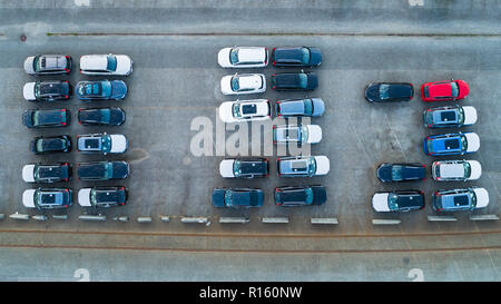 Car parking from above. - Stock Photo
