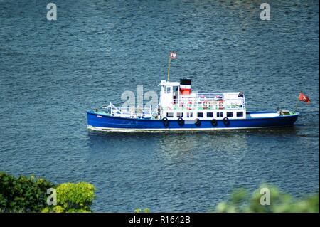 Excursion vessel Karina in Douglas Harbour, Isle of Man - Stock Photo