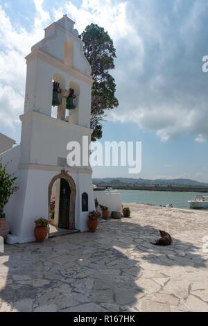 Das Kloster der Mäuseinsel auf Korfu - Corfu - Griechenland - Greece - Island - Stock Photo