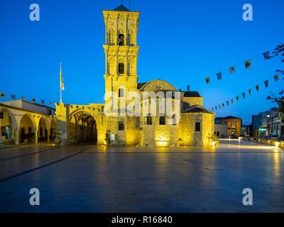 Beautiful evening, Church of St. Lazarus, Cyprus - Stock Photo