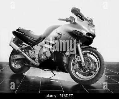 powerful  motorcycle in studio on white background - Stock Photo