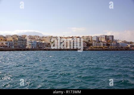 Fantastic village Agios Nikolaos on Crete - Stock Photo