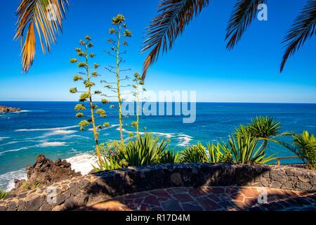 A sunny autumn day on the Atlantic coast - San Juan de la Rambla - Stock Photo