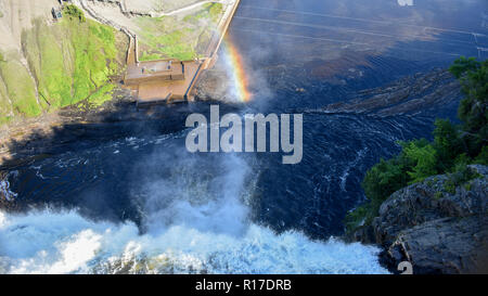 Top view of Montmorency Falls near Quebec City - Stock Photo