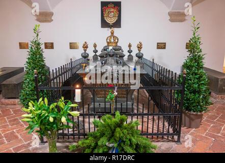 Tomb of 'Mad' King Ludwig II of Bavaria, Munich - Stock Photo