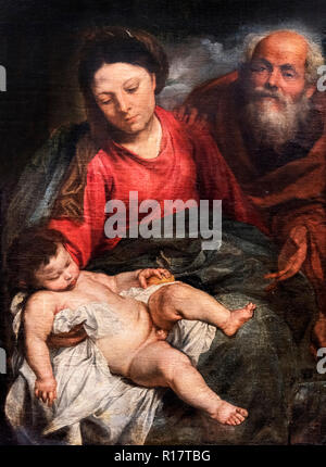 The Holy Family by Sir Anthony van Dyck (1599-1641), oil on canvas, c.1624 - Stock Photo