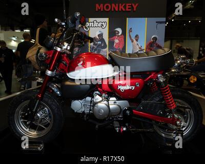 MILAN, ITALY – NOV 08, 2018: Honda Monkey at EICMA Motorbike show