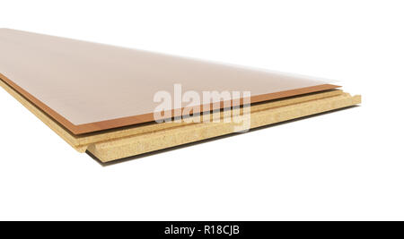 Laminate on layers 3d render on white background no shadow - Stock Photo