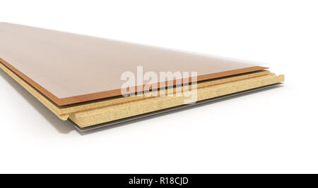 Laminate on layers 3d render on white background - Stock Photo