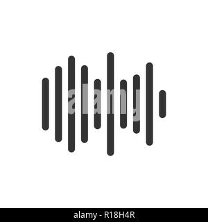 Sound wave icon. Vector illustration, flat design. - Stock Photo