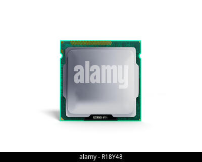 Computer Processors CPU High resolution 3d render on white - Stock Photo