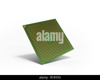 Central Computer Processors CPU High resolution 3d render - Stock Photo