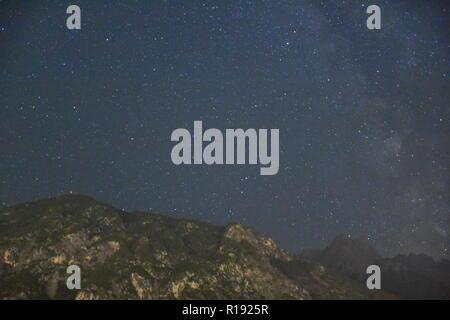 Nacht, Himmel, Sterne, zeit, Dauerbelichtung, Milchstraße, Stern, Sterne, Sonne, Planet, Lichtjahr, Entfernung, Verschmutzung, Lichtverschmutzung, Öst - Stock Photo