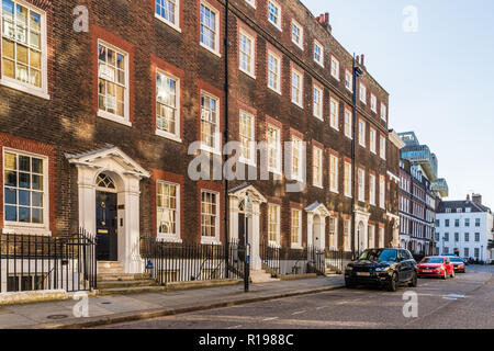 London. November 2018. A typical street in Westminster in London - Stock Photo