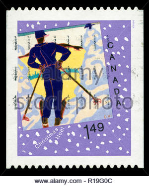Postmarked stamp from Canada in the  Christmas (2006) (2nd series), Christmas Cards series - Stock Photo
