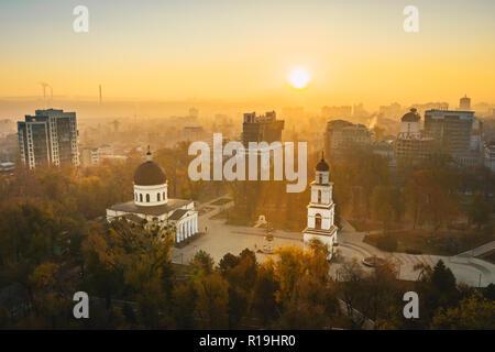 Sunrise in Chisinau Moldova Republic