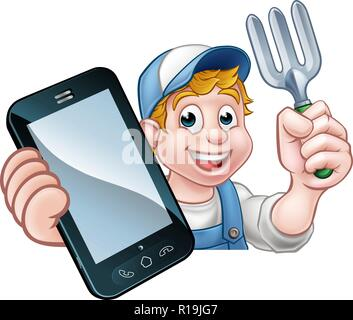 Gardener Phone Concept - Stock Photo