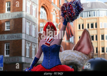 London, UK. 10th Nov, 2018. The 800 year-old tradition sees a procession march a three-mile route from Bank and Aldwych. Penelope Barritt/Alamy Live News - Stock Photo