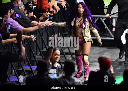 Rome, Italy. 11th Nov, 2018. Show WWE live at the Palalottomatica-Rome 10-11-2018 In the picture Sasha Banks Photo Photographer01 Credit: Independent Photo Agency/Alamy Live News - Stock Photo