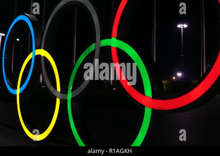 ring a symbol of Olympic Games sports competitions - Stock Photo
