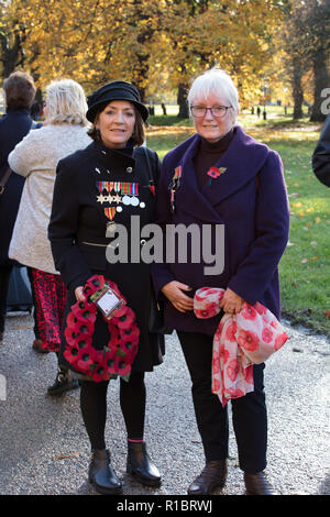 London, UK, 11th November 2018. Some of the participants of the A procession of 10000 people, selected by ballot, walking from Greenpark, to the Cenotaph paying their respects to all those that served and never came back in the first World war. Credit: Joe Kuis / Alamy Live News - Stock Photo