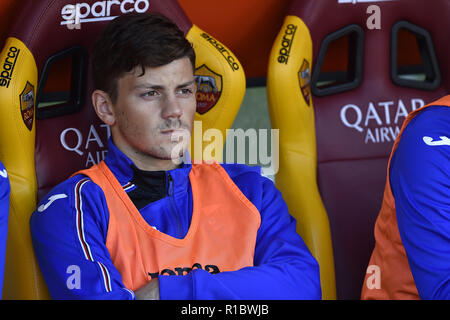 Rome, Italy. 11th Nov 2018. Dawid Kownacki of Sampdoria during the Serie A match between Roma and Sampdoria at Stadio Olimpico, Rome, Italy on 11 November 2018. Credit: Giuseppe Maffia/Alamy Live News - Stock Photo