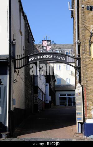Sworders Yard, Bishops Stortford, Hertfordshire - Stock Photo