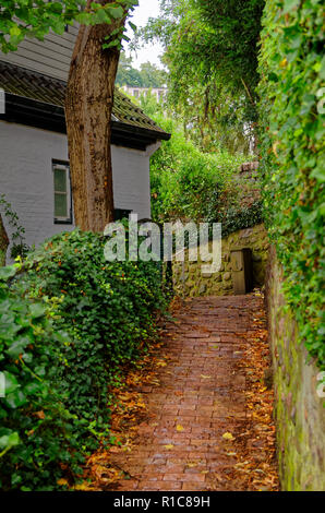 Stairs to a house in so called Treppenviertel (lit. stairs quarter) in Hamburg Blankenese, Germany - Stock Photo