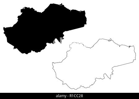 Jambi (Subdivisions of Indonesia, Provinces of Indonesia) map vector illustration, scribble sketch Jambi map - Stock Photo