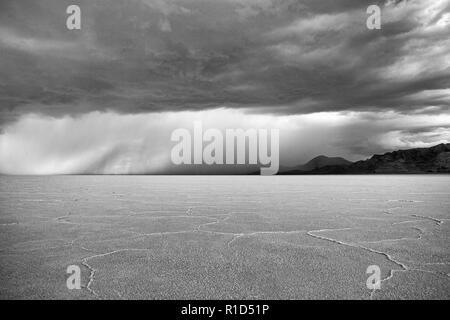 Bonneville salt flats, Utah, USA - Stock Photo