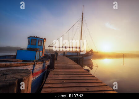 Fjordhafen bei Nymindegab am Ringköbingfjord - Stock Photo