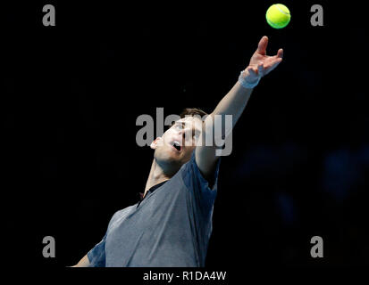 London, UK. 11th November 2018, O2 Arena, London, England; Nitto ATP Tennis Finals; Credit: Action Plus Sports Images/Alamy Live News - Stock Photo