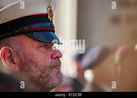 City of London, London, UK, 11th November 2018. Remembrance Day in London. Photo by Gergo Toth / Alamy Live News - Stock Photo