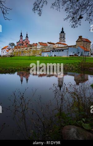 Suwalki Podlaskie Poland Oct 31 Post-Camaldolian Monastery in Wigry - Stock Photo
