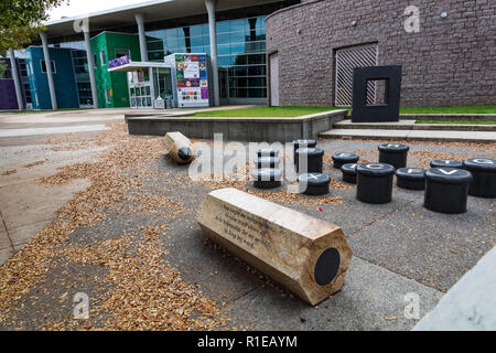 CHARLOTTE, NC, USA-11/08/18: ImaginOn is a collaborative venture of the Charlotte Mecklenburg Library and the Children's Theater. - Stock Photo