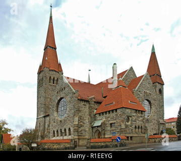 Tampere Cathedral in Tampere. Finland - Stock Photo