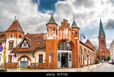 Old city market in Bydgoszcz, Poland - Stock Photo
