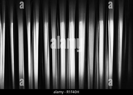 Horizontal picture of black and white curtain for background and texture - Stock Photo