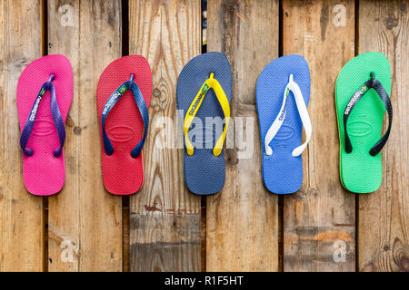 8f415cad0 Holiday flip flops havaianas on sale at London Gatwick airport Stock ...