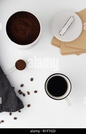 minimalistische Kaffeeszene - Stock Photo