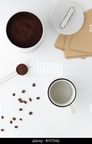 minimalistische Kaffeeszene - Stock Photo