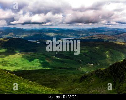 Hiking Ben Lomond, Scotland - Stock Photo