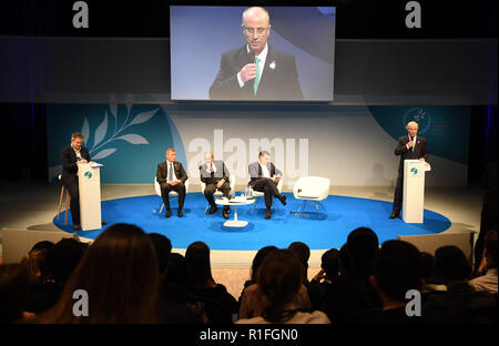 Paris, Paris, France. 12th Nov, 2018. Palestinian Prime Minister Rami Hamdallah attends Paris Peace Forum in Paris, France on November 11, 2018 Credit: Prime Minister Office/APA Images/ZUMA Wire/Alamy Live News - Stock Photo