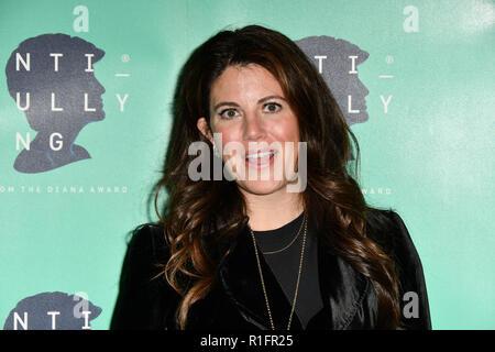 London, UK. 12th November, 2018. Monica Lewinsky attend The Diana Award anti-bullying week at Alexandra Palace on 12 November 2018, London, UK. Credit: Picture Capital/Alamy Live News - Stock Photo