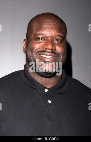 New York, USA. 12th Nov 2018. Shaquille 'Shaq' O'Neal attends the 'Killer Bees' New York Special Screening at Landmark 57 Theater on November 12, 2018 in New York City. Credit: Ron Adar/Alamy Live News - Stock Photo