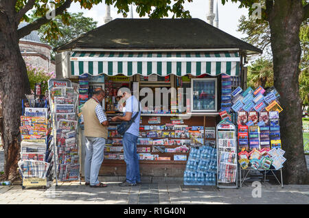newspaper and magazine stand in a shop bavaria germany stock photo 17402895 alamy. Black Bedroom Furniture Sets. Home Design Ideas